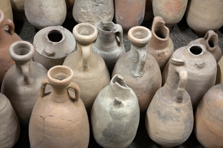 The ancient amphorae  Archaeological finds  Stock Photo
