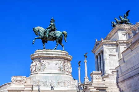 Venice Palace in Rome  In the foreground, the sculpture of Victor Emmanuel