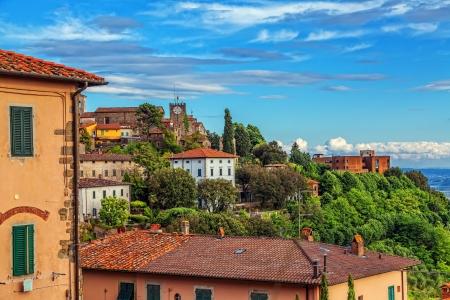 Italian town Montekatini Alto  Cityscape