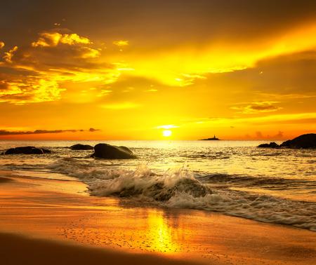 khao: Sunset over  Khao Lak beach
