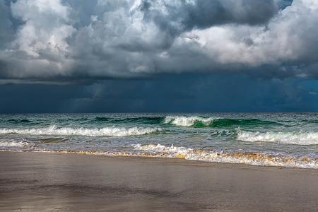 whirlwind: Storm on Karon Beach  Phuket Island in Thailand  Stock Photo