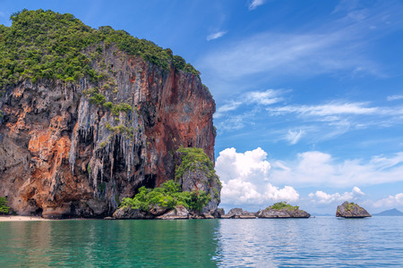 railey: Famous Railey beach in the Thai province of Krabi.
