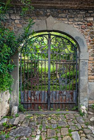 wicket gate: Entrance gate