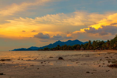 chang: Sunset in Koh Chang in Thailand.