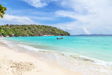 phuket province: Blue Lagoon on the island of Ko Racha. Thai Phuket Province Stock Photo