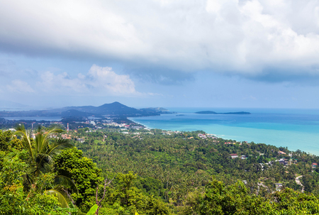 Panorama de Koh Samui en Tailandia. Foto de archivo