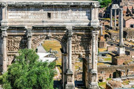 severus: Triumphal Arch of Septimius Severus. Roman forum.