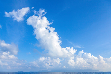 Picturesque clouds over the sea. Stock Photo