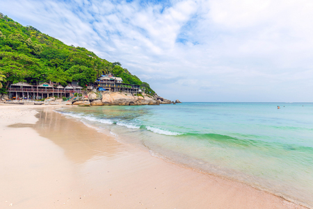 Haad Rin beach. Venue of the famous Full Moon Party. Koh Phangan. Thailand. Stock Photo