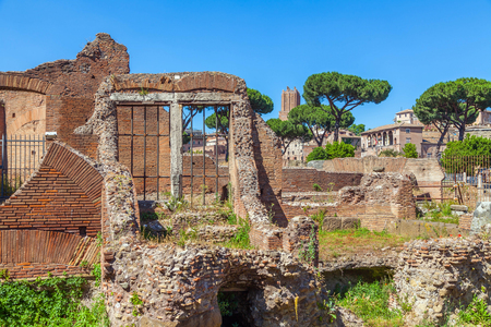 Roman ruins. Stock Photo
