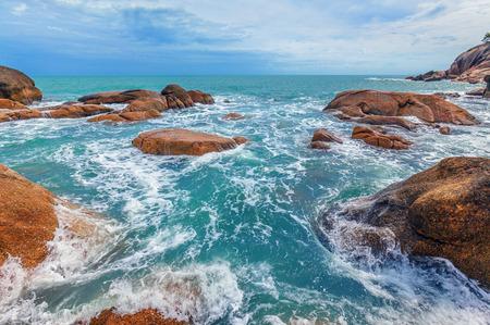 Sea surf. Koh Samui. Thailand. Stock Photo