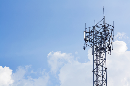 gsm: metal GSM tower and blue sky