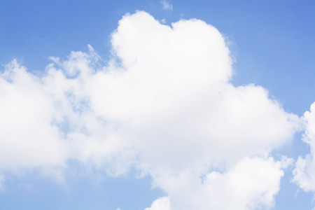 fluffy clouds: blue sky background with fluffy clouds