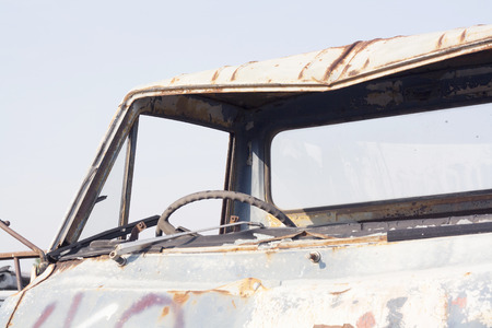 blight: old dilapidated car