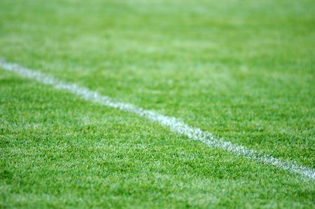 artifical: artifical grass football ground Stock Photo