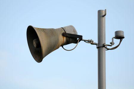 using voice: old loudspeaker