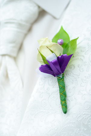 boutonniere: beautiful boutonniere groom on their wedding day