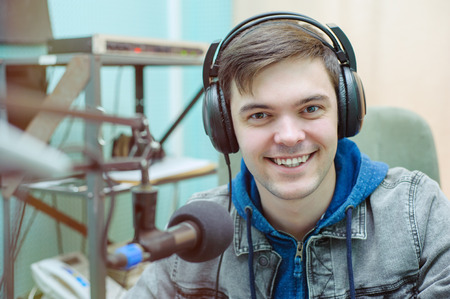 Portrait of a broadcaster in the studio