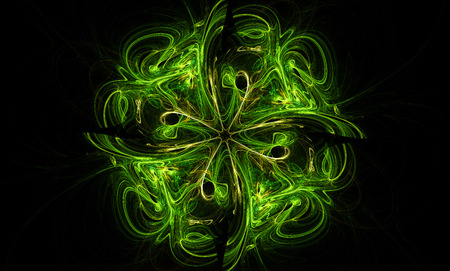 day light: incredible shamrock fractal abstraction. texture and background