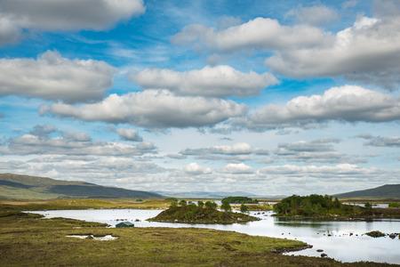 frozen lake: Lochan na h-Achlaise, Lake near Glen Coe. Scotland