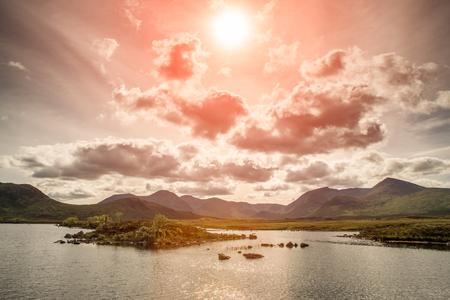 Lochan na h-Achlaise, Lake near Glen Coe. Scotland