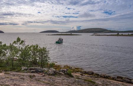 Views of the islands of the archipelago of the Kuzova. Russia, Karelia. photo