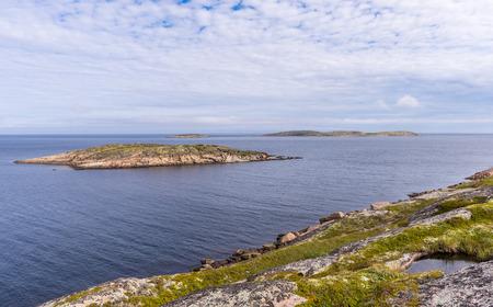 View of islands of the archipelago of Kuzova.  Russia, Karelia. photo