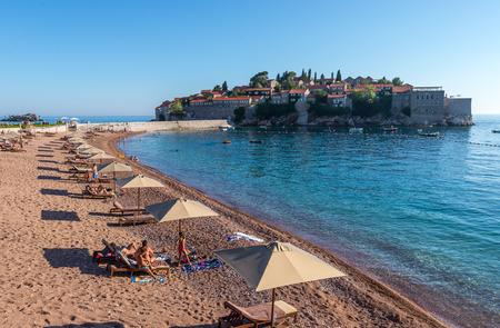 montenegro: Beach San Stefano. Montenegro. Stock Photo