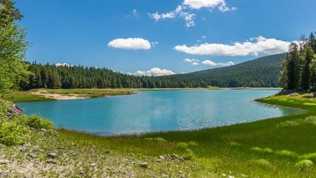montenegro: Black Lake panorama. Durmitor, Montenegro.