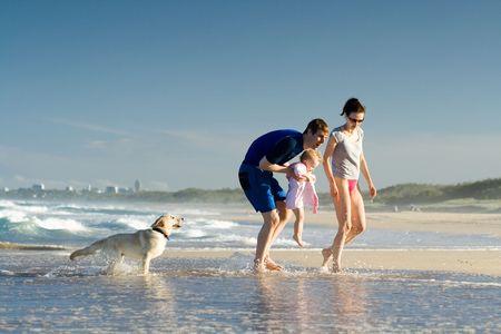 Family on a beach holiday photo