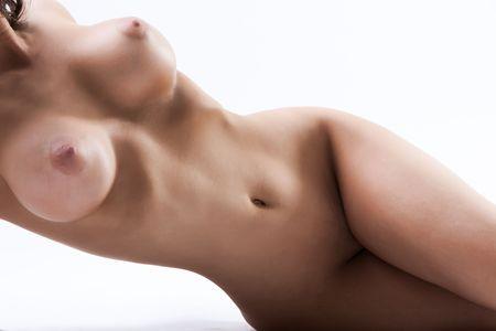 beaux seins: D�tail d'une jeune femme sexy avec des gros seins