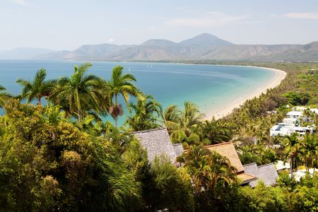 Port Douglas beach on sunny day from observation point photo