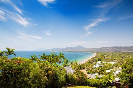 douglas: Port Douglas beach on sunny day from observation point