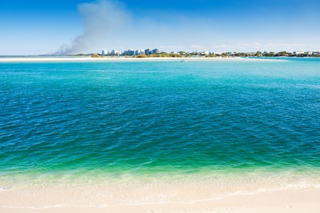 Caloundra Kings Beach overlooking Bribie Island photo