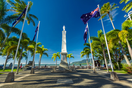 cairns: CAIRNS, AUS - JUN 22 2014: Cairns Cenotaph and Memorial site. It is a place of cultural and historic significance for the Cairns community.