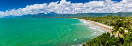 port douglas: Port Douglas four mile beach and ocean on sunny day, Queensland, Australia