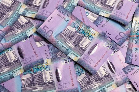 papermoney: Samoa Tala bank notes - fifties