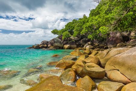 fitzroy: Nudey Beach on Fitzroy Island, Cairns area, Queensland, Australia, part of Great Barrier Reef.