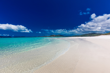 Amazing famous Whitehaven Beach with white sand in the Whitsunday Islands, Queensland, Australia 版權商用圖片