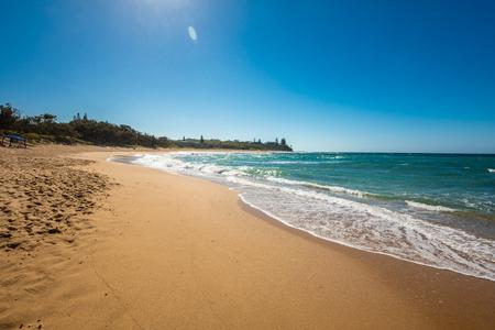 Sunny view of Shelly Beach at Caloundra, Sunshine Coast, Queensland, Australia