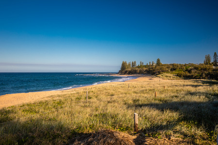 Sunset view of Shelly Beach at Caloundra, Sunshine Coast, Queensland, Australia