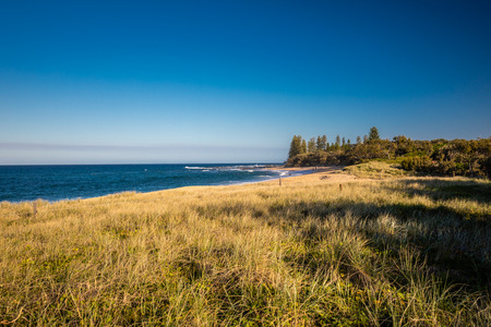 Sunset view of Shelly Beach at Caloundra, Sunshine Coast, Queensland, Australia