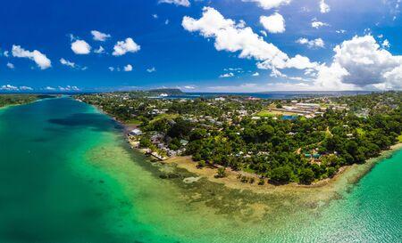 Tropical holidays, Efate, Port Vila, Vanuatu, drone view