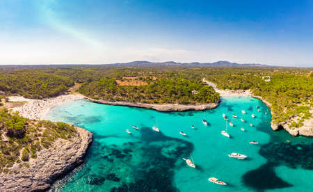 Summer on Majorca Es Trenc ses Arenes beach in Balearic Islands, Spain Banque d'images