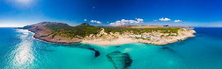 Beautiful sandy beach of Cala Mesquida, Mallorca, Mediterranean Sea, Balearic islands, Spain Banque d'images