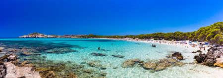 Cala Agulla with amazing sand beach Spain, Balearic Islands, Mallorca, Cala Rajada