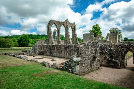 Ruins of Bayham Abbey, East Sussex, England, UK - church, chapter house and gatehouse