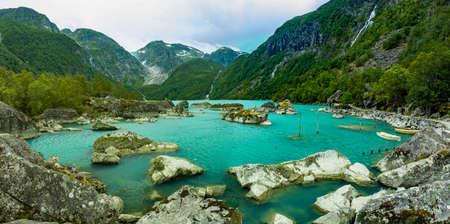 Norway Sunndal Hardangerfjord Bondhusvatnet Glacier Lake Bondhusbreen Glacier