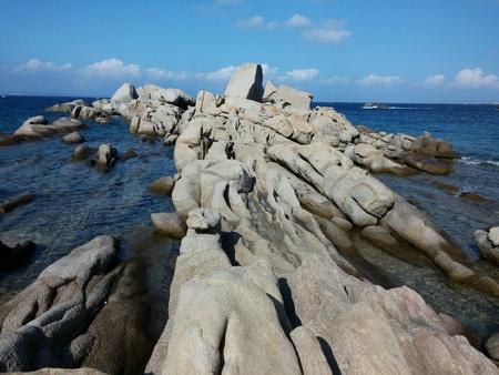granite: Santa Teresa di Gallura, granite and sea Stock Photo