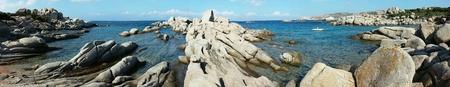 view: Santa Teresa di Gallura, granite and sea Stock Photo